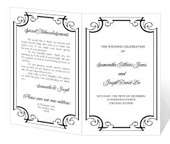 word wedding program template download
