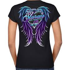 2016 sturgis purple wings front and back screen printed v