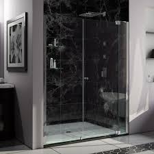 22 Inch Shower Door Dreamline Flex 60 In X 74 75 In Semi Frameless Pivot Shower Door