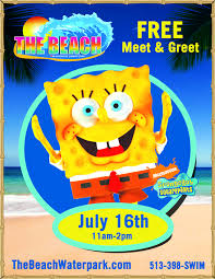 spongebob squarepants meet and greet the beach waterpark mason