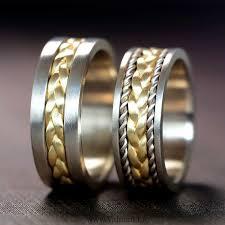 verighete din aur din aur galben si alb v910