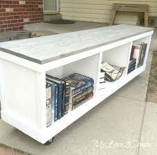 bookcase bench diy bookcase bench cheap cabinet into nice bench diy expedit bench