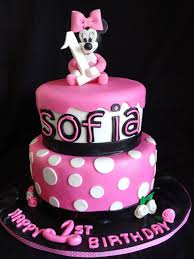 minnie mouse cake for girls birthday party decoration idea