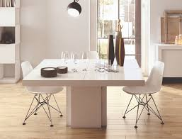Contemporary Dining Room Furniture Uk Temahome Dusk Modern Dining Table In Gloss White
