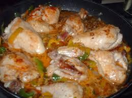 cuisiner des cuisse de poulet poulet piquant aux 2 poivrons gastronomart