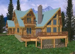 Wood Cabin Plans by 30 Unique Log Home Blueprints 2490 Sqft Traditional Cottage