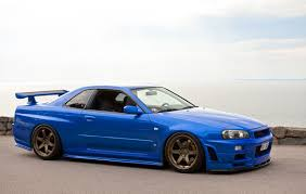 nissan sports car blue nissan skyline gt r r34 jdm japan stanceworks stancenation blue