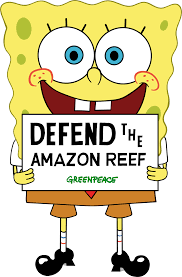 why spongebob is the perfect champion for the amazon reef