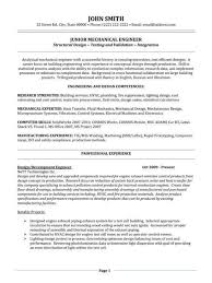 Structural Design Engineer Resume Experienced Mechanical Engineer Cover Letter