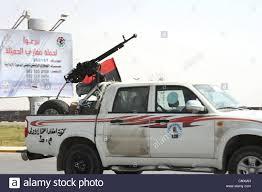 a free libyan army pickup truck with a zpu aa gun in ajdabiyah