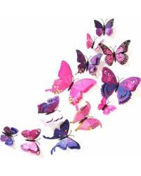 Spring Sale ENJOY 12Pcs PVC 3D Butterfly wall decor cute