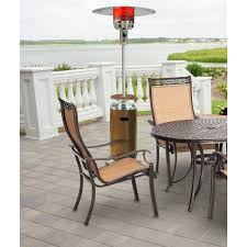 Patio Heater Pyramid by 7 Ft Steel Umbrella Patio Heater In Brass Han002brss