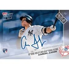 Aaron Judge Breaks Mlb Rookie Record With 50th Home Run Rolling Stone - 2017 topps now 654a aaron judge auto 34 49 50th hr sets mlb rookie