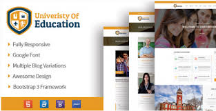 bootstrap sites templates best education website templates of 2017 html