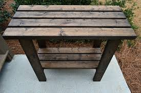 Free Woodworking Plans For Outdoor Table by Potting Bench Plans Refresh Restyle