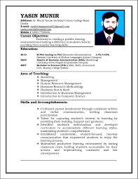 Resume Educational Background Format Latest It Resume Format 2015 Eliolera Com