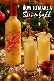 christmas cocktails recipes how to make a snowball and other christmas cocktails the