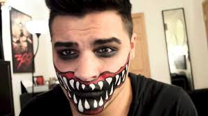 Easy Halloween Makeup For Men by Scary Mouth Tutorial Alex Faction Youtube