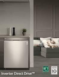 Quiet Dishwashers Lg Energy Star Front Control Dishwasher With Stainless Interior
