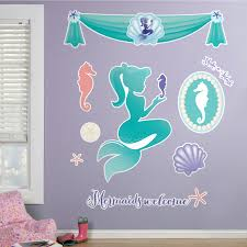 decoration mermaid wall decals home decor ideas mermaids under the project awesome mermaid wall decals