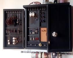 Jewelry Storage Cabinet Jewelry Cabinet Etsy