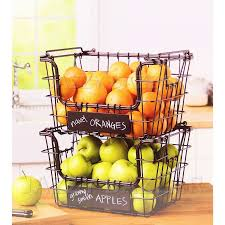 fruit baskets best 25 wire fruit basket ideas on hanging fruit