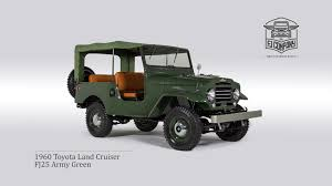 toyota th 1960 toyota land cruiser fj25 21422 army green restoration process