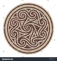 Tile Decoration Mosaic Tile Decoration Circle Scandinavian Ornament Stock Vector