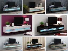 high gloss tv stand cabinet with led lights entertainment