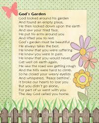 gael s crafty treasures gods garden in memory of lost loved ones