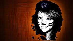 eyes orange paint communist smiling che guevara wallpaper