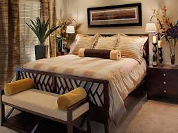 Master Bedroom Decorating Ideas With Sleigh Bed Warm Neutrals With Golden Accents Draw You Into This Warm