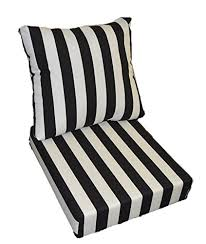 Deep Seat Patio Cushion Amazon Com Black And White Stripe Cushions For Patio Outdoor