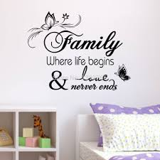 aliexpress com buy family home decor creative quote wall decals