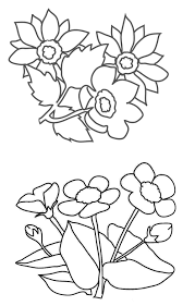 flower coloring pages flowers and leaves