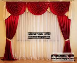 red curtains and window treatments in the interiors home
