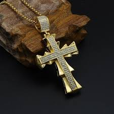 man cross necklace images Bevel style hiphop gold color cross men necklace fanfreakz jpg