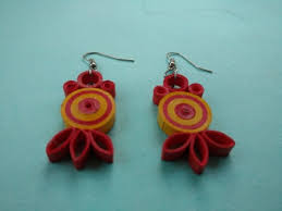 quilling earrings images quilling earrings orange yellow kala manch