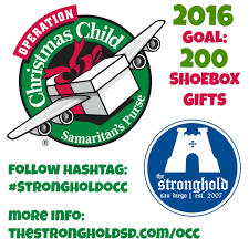 help stronghold send 200 shoeboxes filled with gifts for operation