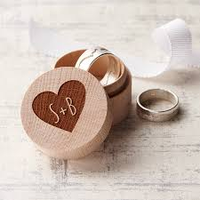wedding rings in box personalised wedding ring box by clouds and currents
