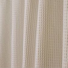 Cotton Waffle Shower Curtain York Shower Curtain In Linen 20582 The Home Depot
