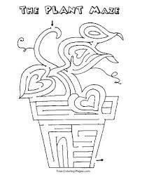 coloring cute maze game printable kids coloring