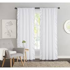 vcny amber side ruffle blackout 84 inch curtain panel pair 40 x