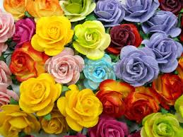 25 rainbow mulberry paper flower roses scrapbook card making