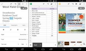 Spreadsheet App For Android Tablet Best Android Office Apps