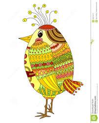 drawing of a cute cartoon bird stock vector image 28310471