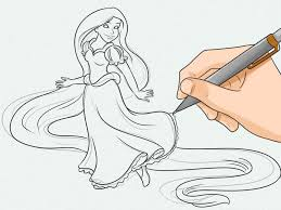 draw rapunzel 6 steps pictures wikihow