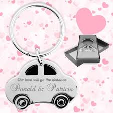 wedding favor keychains promotional wedding favors car shaped keychains wedding