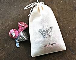 Horseshoe Party Favors Wedding Favor Bags Set Of 50 Personalized Muslin Bags