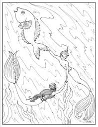 beautiful mermaid coloring pages mermaids to print and color the little siren by manic goose on